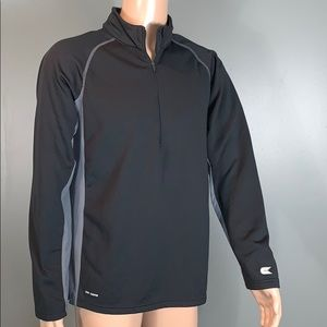 Colosseum Mens Black Performance Quarter Zip L